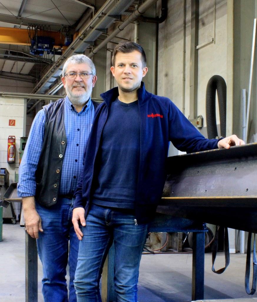 Josef und Martin Schliebach, Geschäftsführer der Schlosserei Schliebach Gmbh